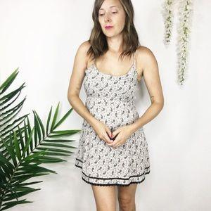 EN CREME dress open back paisley print